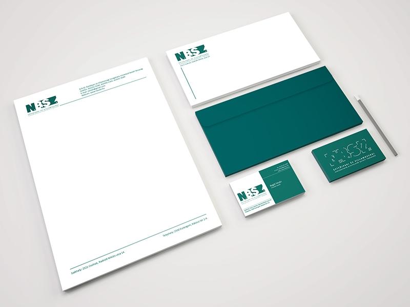 N.B.Sz. BT. kisarculat, stationery, branding