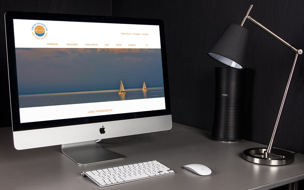 Fewo Plattenseesüd website, web design, WordPress website
