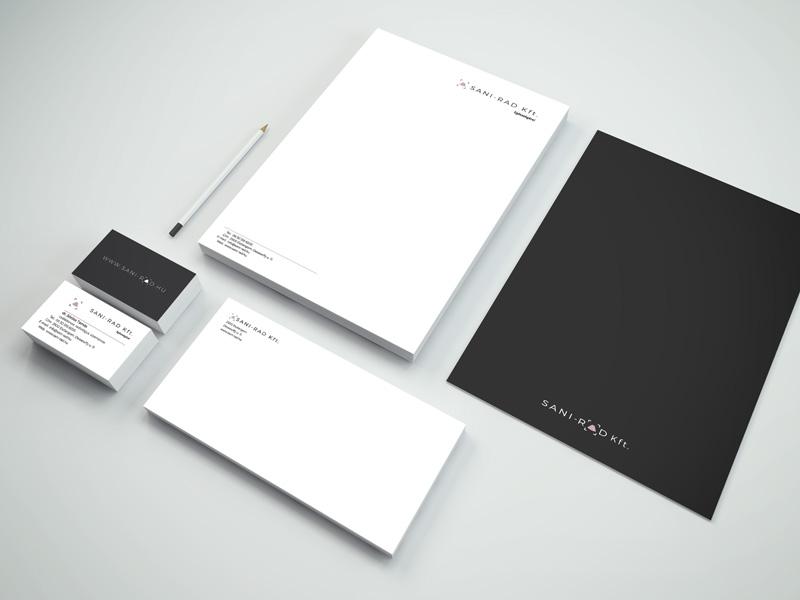 SANI-RAD Kft. arculat, branding, stationery, logo