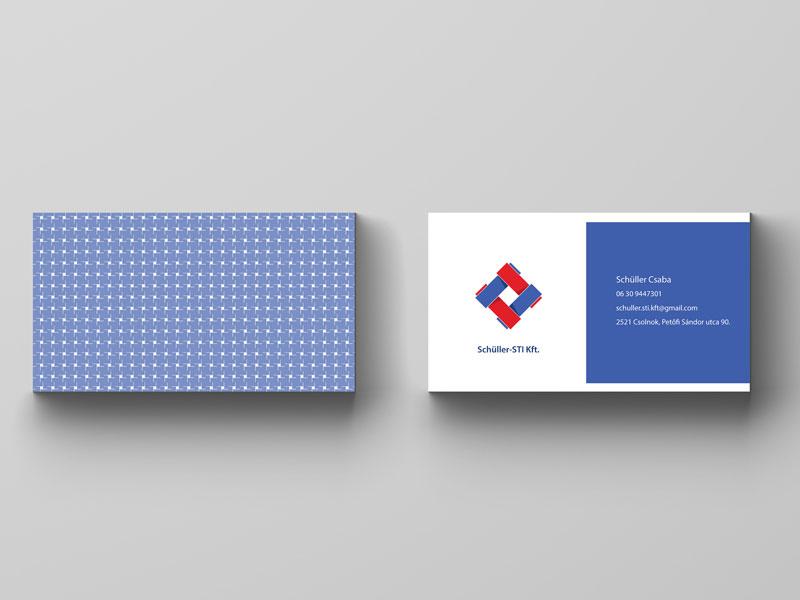 Schüller-STI Kft. névjegykártya, business card