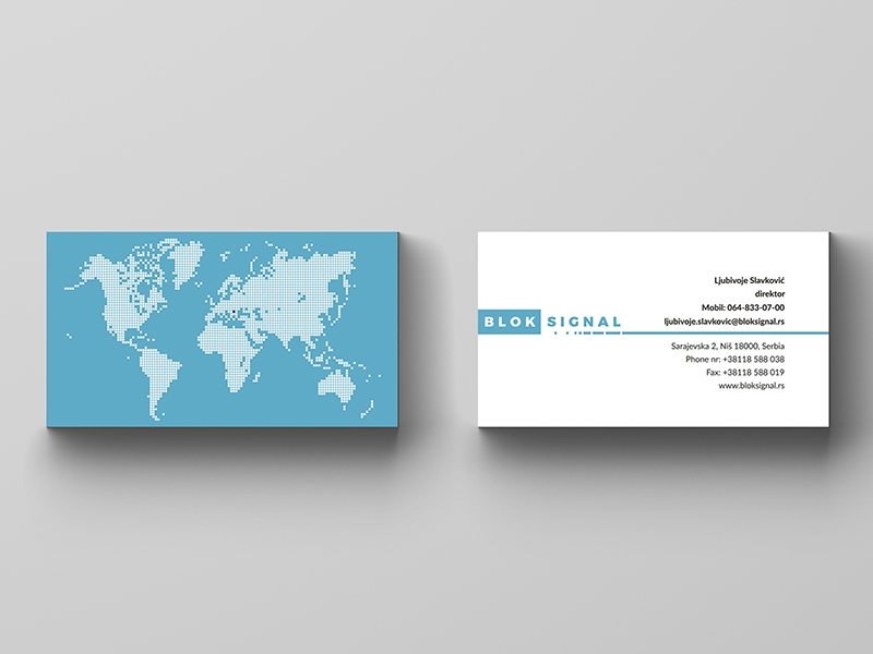 Blok Signal business card